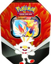 Pokemon kort i tin æske - 2020 Galar Partners Tin - Cinderace