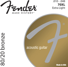 Fender 80/20 Bronze 70XL Acoustic Guitar String Set (10-48)