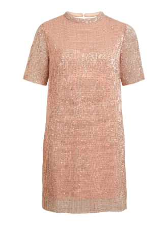 VILA Sequin Dress Women Pink