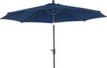 Taranto parasoll Antracit/blå 3 m