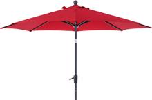 Taranto parasoll Antracit/röd 3 m