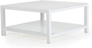 Balma soffbord Vit med frostat glas 100x100 cm