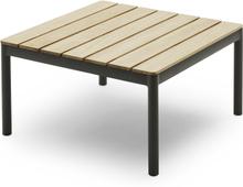 Tradition soffbord (högt) Grå/teak 76x76 cm