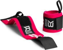 Better Bodies Womens Wrist Wraps, hot pink/white, Better Bodies Knä & Handledslindor
