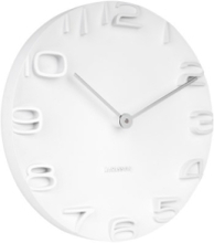 Wall clock On The Edge white w. chrome hands