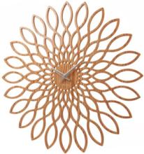 Wall clock Sunflower MDF wood finish