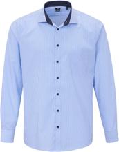 Skjorta hajfenskrage i 100% bomull från Pure blå