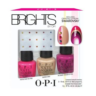 OPI Brights Nail Polish Trio With Swarovski Crystals 3 x 15 ml + 15 stk