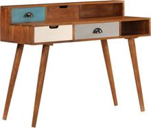 vidaXL Skrivbord 110x50x90 cm massivt akaciaträ