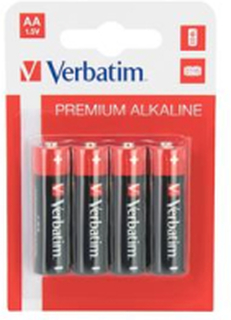 Verbatim AA Alkaline Batteri, (LR6) 4-pack