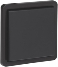 Splashproof non-illuminable push button 10 ax/250 vac with 4 connection terminals and a n.o./n.c. contact excluding surface-mounting box black