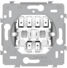 Base for a double n.o. or n.c. push button 10 a/250 vac plug-in terminals