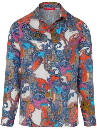 Blus lång ärm i SWISS COTTON 100% bomull från Laura Biagiotti Donna mångfärgad