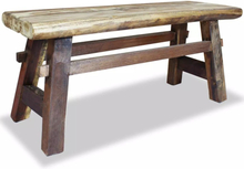 vidaXL Bänk i massivt återvunnet trä 100x28x43 cm
