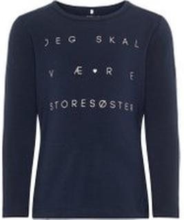 NAME IT Mini Printet Langærmet T-shirt Kvinder Blå