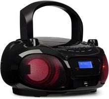 Roadie DAB CD-player DAB/DAB+ FM LED disco ljus-effekt Bluetooth svart