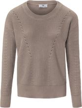 Rundhalsad tröja i 100% bomull från Peter Hahn beige