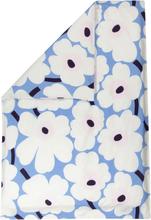 Marimekko Unikko pussilakana 150 x 210 cm, v.sininen-l.valkoinen-luumu