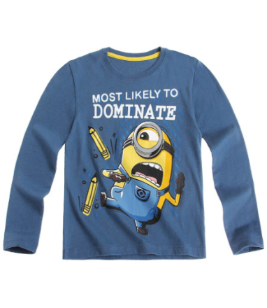 Minions - Langærmet T-shirt blå - Boernsunivers