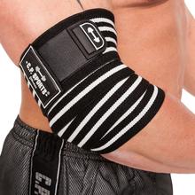 C.P. Sports Elbow Wraps Pro, black/white, C.P. Sports Knä & Handledslindor