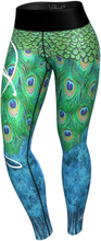 Anarchy Apparel Women Peacock Leggings, green/blue, xsmall Träningstights dam