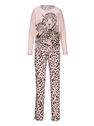 Pyjamas med morsomt motiv Taubert rosa/koksgrå
