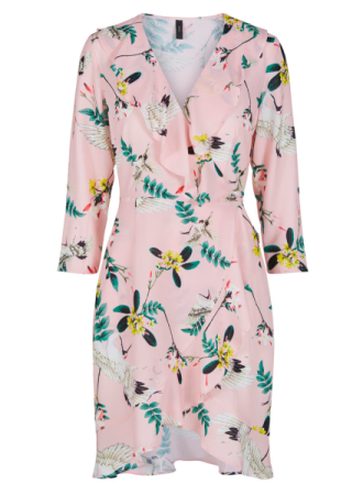 Y.A.S Knee Length Wrap Mini Dress Women Pink