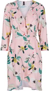 Y.A.S Knee Length Wrap Mini Dress Kvinna Rosa