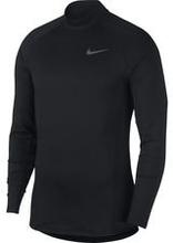 Nike Pro Therma Warm Compression Mock L/S - Musta/Harmaa