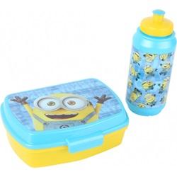 Minions frokost sæt: Madpakke og flaske blå / gul - wupti.com