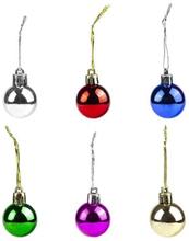 Pienet eriväriset joulukuusipallot, 12-pack