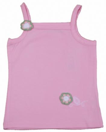 Tank top med blomst rosa - bombiBitt