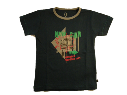 T-shirt blå med print - Ü you-kids