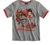 Bakugan kortærmet t-shirt grå - LamaLoLi