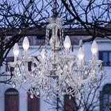 LED-utomhus-lampkrona Drylight S6, 6 ljuskällor