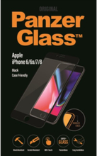 PanzerGlass iPhone 6/6S/7/8 Jet Svart (CaseFriendly)