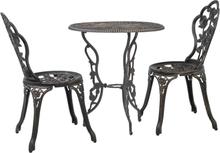 vidaXL Cafés 3 delar gjuten aluminium