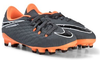 low priced ece00 fe4f7 NIKE Dark Grey and Orange Hypervenom Phantom Firm Ground Fotbollsskor 28.5 ( UK 11)