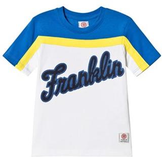 Franklin & Marshall Franklin Logo T-shirt Vit, Gul och Blå 5-6 years
