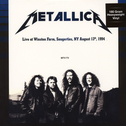Metallica - Live at Winston Farm Saugerties NY August 13 1994 - Vinyl
