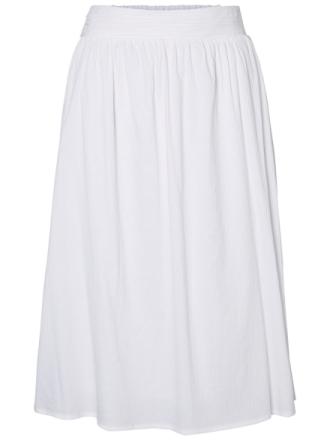 VERO MODA Semi Long Hw Skirt Women White