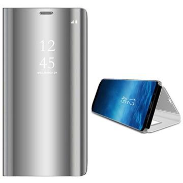 Samsung Galaxy S9 Luksus Mirror View Flip Cover - Sølv