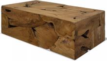 vidaXL Soffbord 90x50x35 cm äkta teak brun