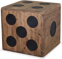vidaXL Förvaringsbox mindi-trä 40x40x40 cm tärningsdesign