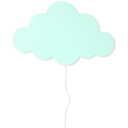 Ferm Living KIDS - Cloud Vegglampe, Mint