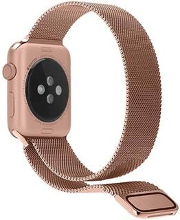 Apple Watch Series 4/3/2/1 Magnetisk Milanorem - 44mm, 42mm - Rødguld