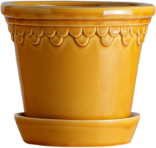 Köpenhamn ruukku lasitettu 18 cm Keltainen