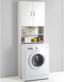 FMD Vaskemaskinskap med oppbevaringsrom hvit 913-001