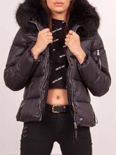 Womens Fur Lining Puffer Black/Black