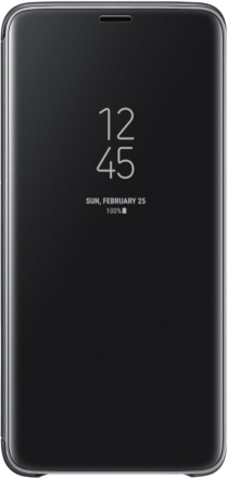 Samsung Galaxy S9 Clear View Standing Cover - Svart